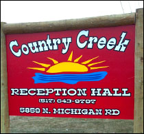 Country Creek Roadside Sign